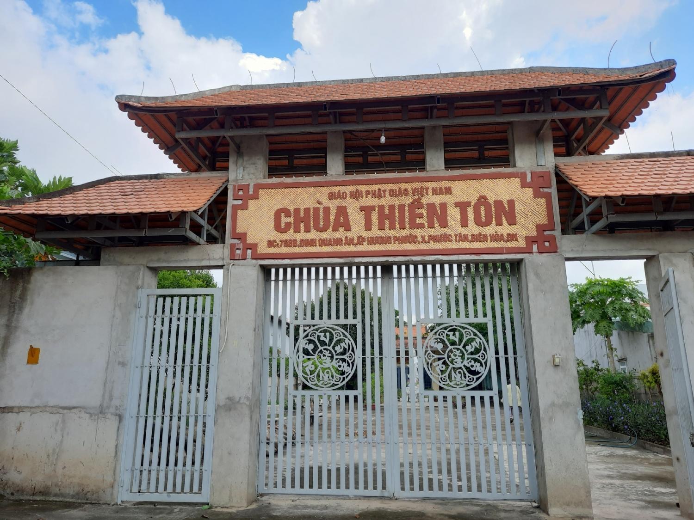 Chùa Thiền Tôn phường Phước Tân