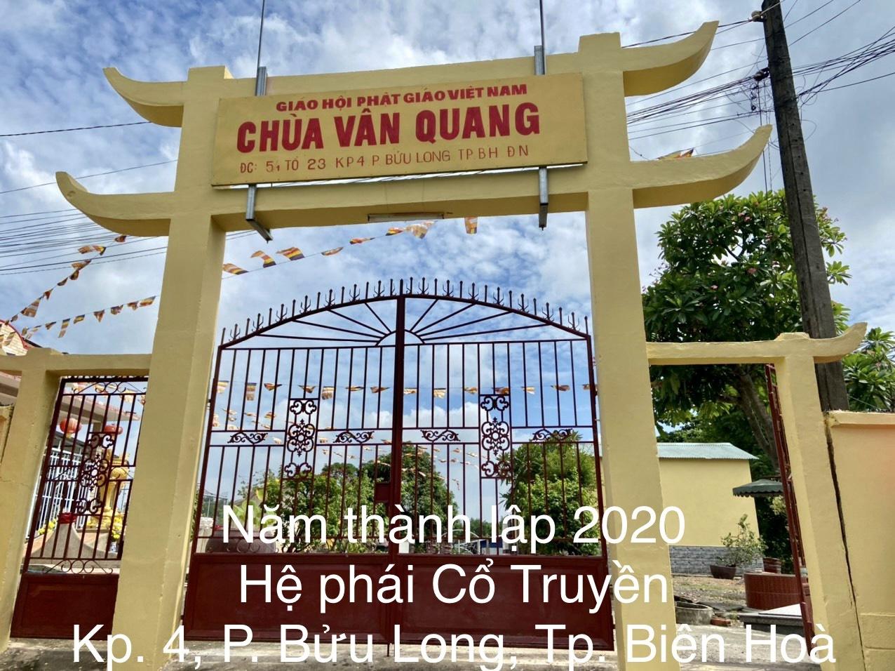 Chùa Vân Quang phường Bửu Long